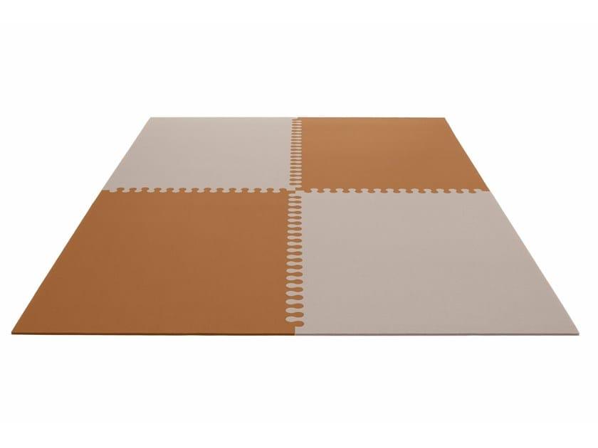 Rectangular felt rug ZIPP by HEY-SIGN