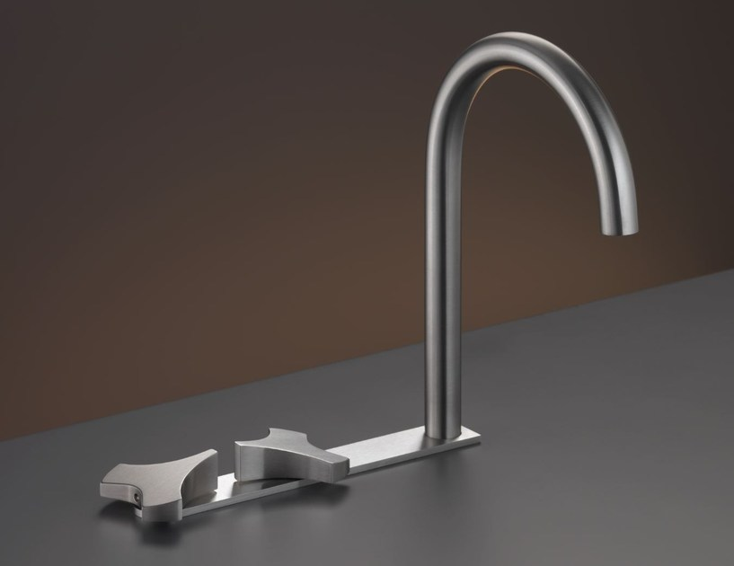 3 hole washbasin tap with swivelling spout ZIQ 10 - Ceadesign S.r.l. s.u.