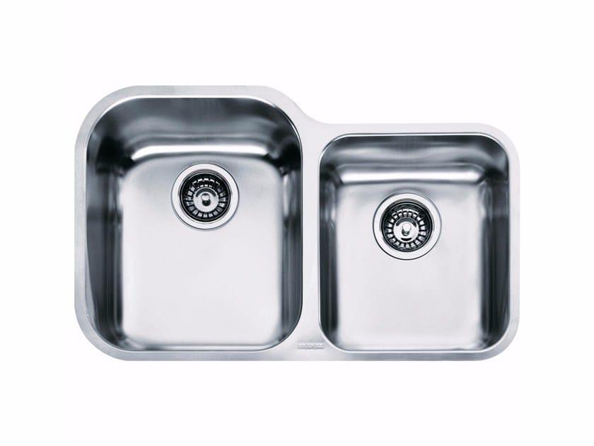 Lavello a una vasca e mezzo sottotop in acciaio inox ZOX 120 - FRANKE