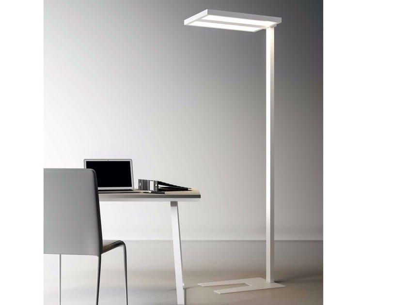 LED direct-indirect light floor lamp ZURIGO 8470 D-I by Metalmek