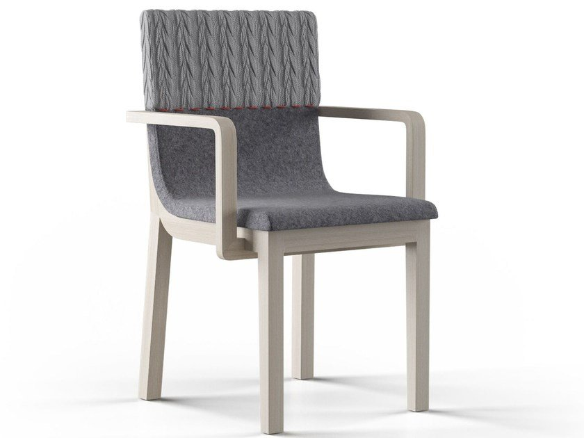 Upholstered fabric chair with armrests ZUSTRICH by FAINA Collection