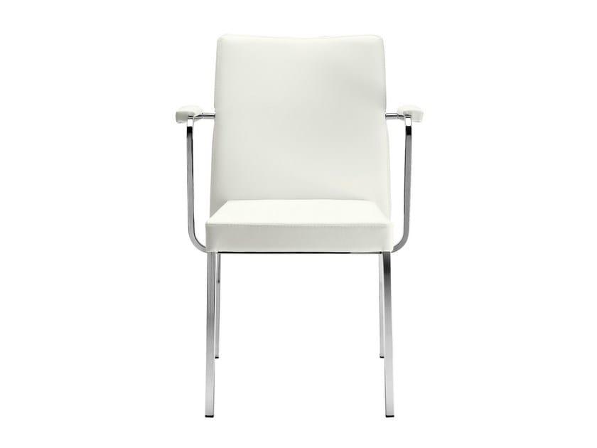 Stackable chair with armrests Zelda 091 - Metalmobil