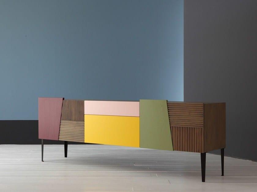 Solid wood sideboard with doors ZERO.16   Sideboard - Devina Nais