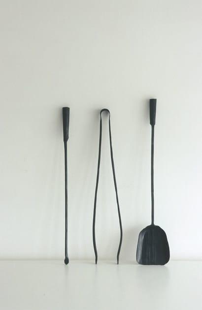 Set di attrezzi per camino in ferro a ferro e fuoco   conmoto