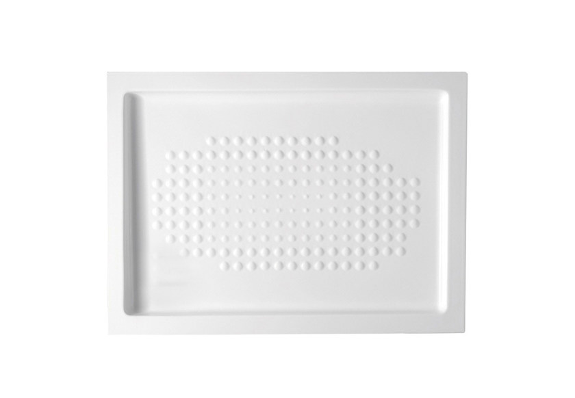 Anti-slip rectangular ceramic shower tray Rectangular shower tray - Hidra Ceramica