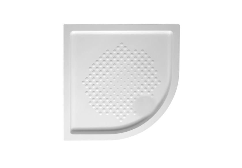 Corner anti-slip ceramic shower tray Corner shower tray by Hidra Ceramica