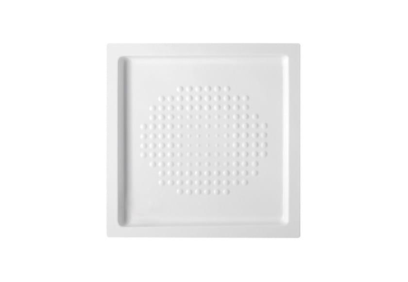 Anti-slip ceramic shower tray Square shower tray by Hidra Ceramica