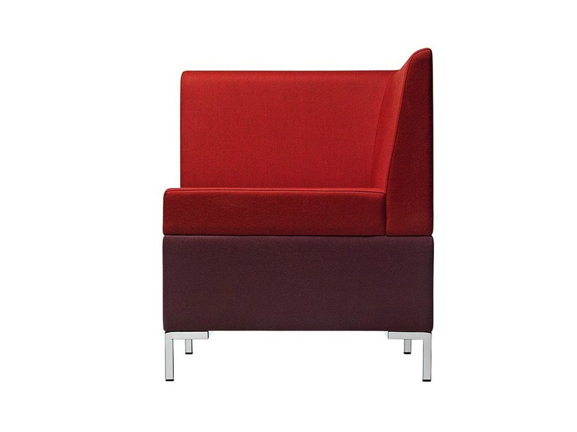 Corner sectional fabric armchair Abaco 752 - Metalmobil
