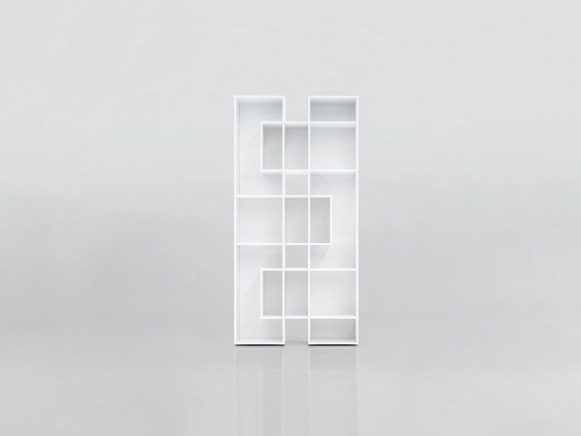 Open freestanding lacquered wooden bookcase ABACO by Tonin Casa