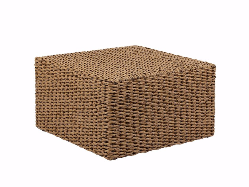 Low square rattan garden side table ABONDO | Square coffee table - ROYAL BOTANIA