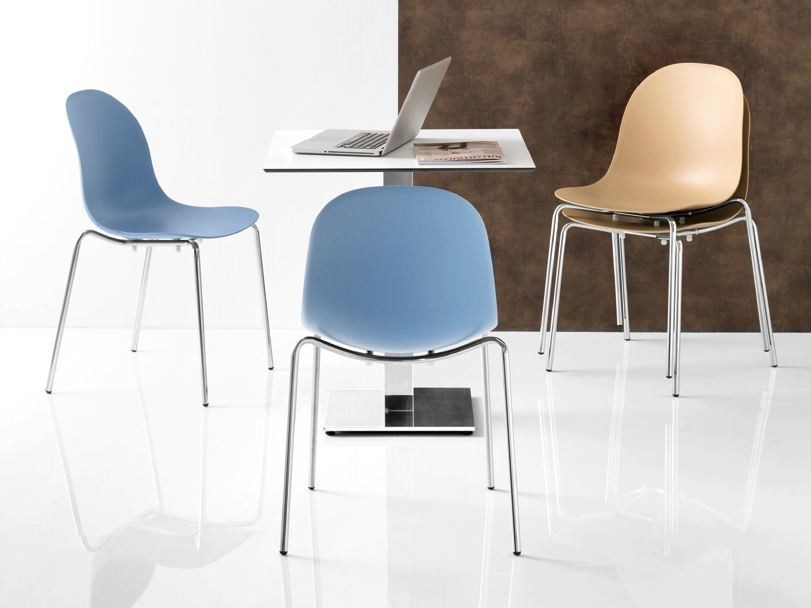 Stackable technopolymer chair ACADEMY | Stackable chair - Calligaris
