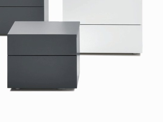 Bedside table with drawers ACCA | Square bedside table by Silenia