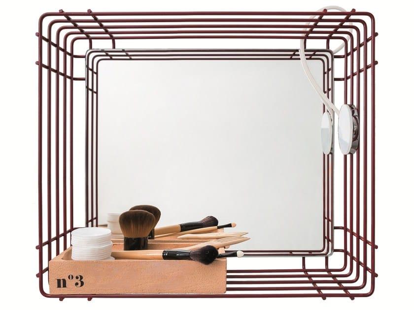 Open wall cabinet with mirror ACQUA E SAPONE BATH | Wall cabinet with mirror - Birex
