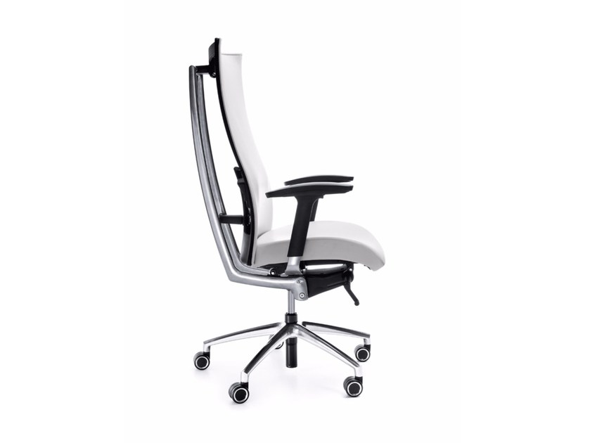 Swivel task chair with 5-Spoke base with armrests ACTION 100SFL - profim