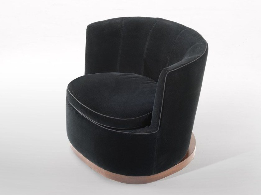 Armchair with removable cover with armrests ADELE | Armchair with removable cover - FLEXFORM