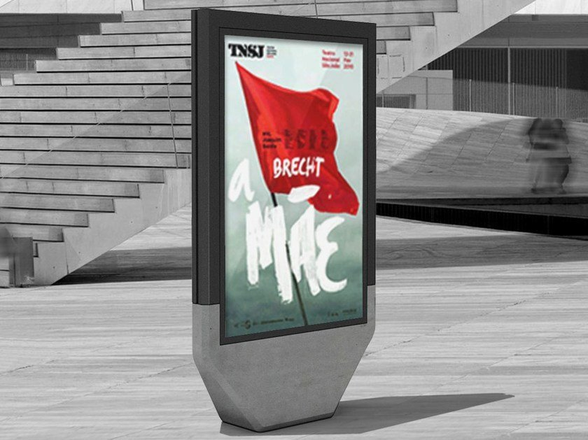 Freestanding double-sided advertising totem 4CITY | Advertising totem - SIT