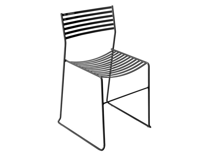 Sled base stackable steel chair AERO | Chair by emu