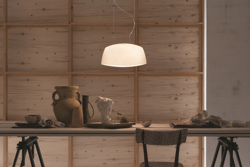 Blown glass pendant lamp AERO | Pendant lamp - LUCENTE - Gruppo Rostirolla