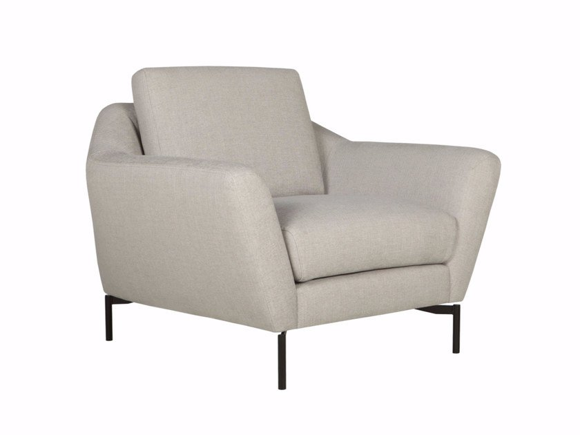 Upholstered fabric armchair with armrests AGDA | Armchair - SITS
