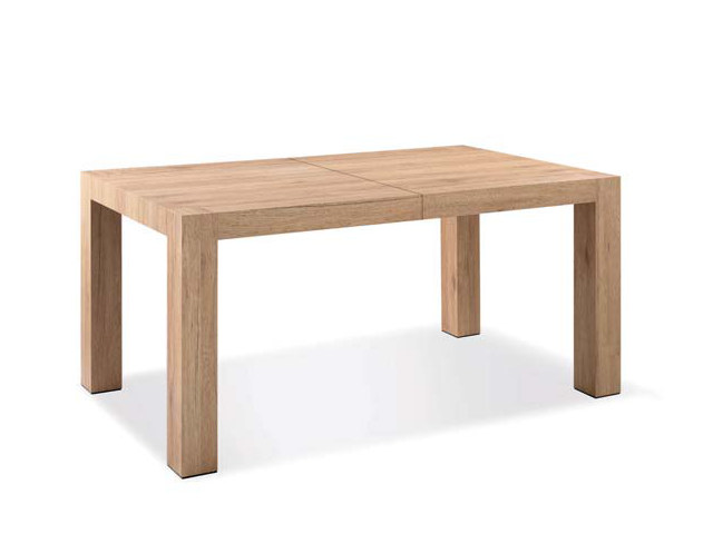 Rectangular melamine-faced chipboard table AGED - CREO Kitchens by Lube