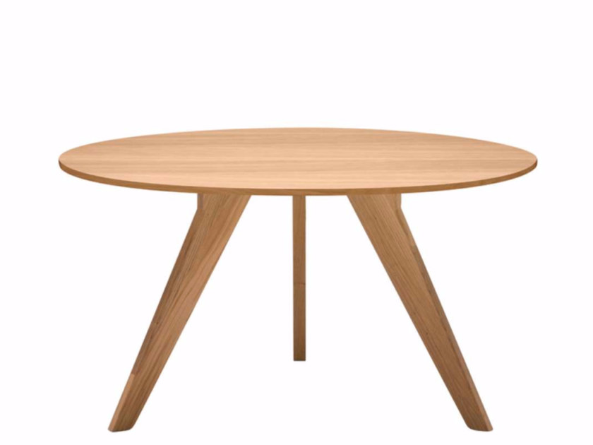 Round wooden table AGO - AG2 | Oak table by Alias