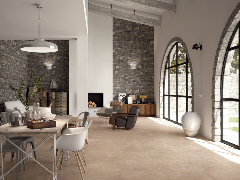 Full-body porcelain stoneware flooring with stone effect AGORÀ | Flooring by Marca Corona