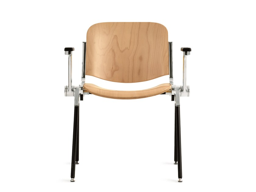Wooden training chair with armrests AGORÀ | Wooden training chair by Emmegi