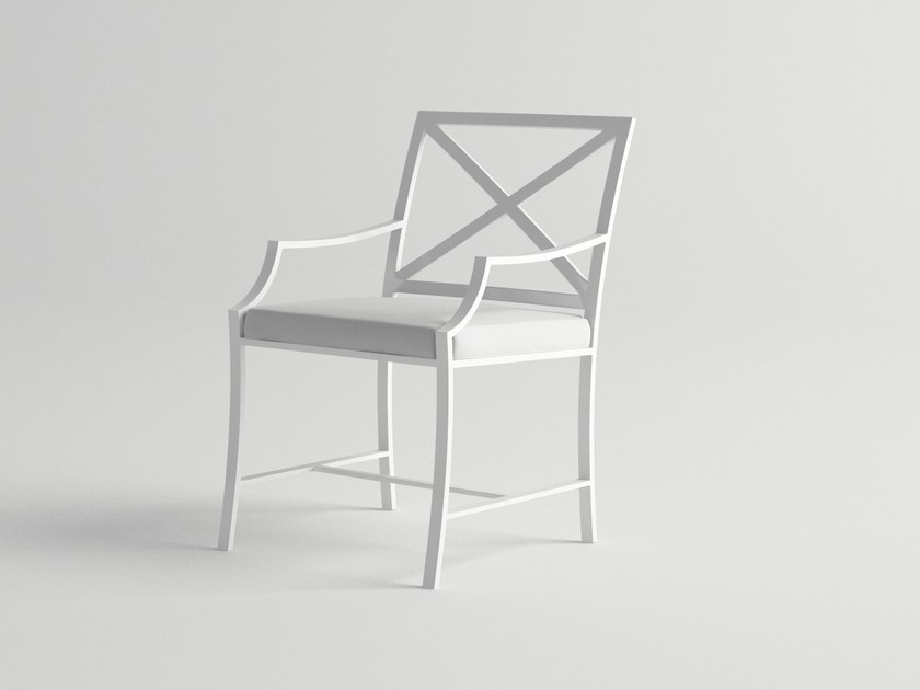 Aluminium garden chair with armrests AGOSTO | Chair with armrests - 10Deka