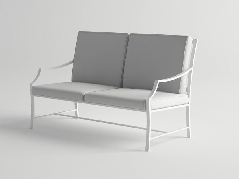2 seater aluminium garden sofa AGOSTO | Garden sofa - 10Deka