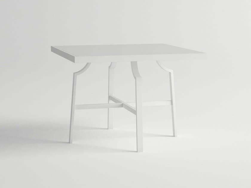 Square aluminium garden table AGOSTO | Square table - 10Deka