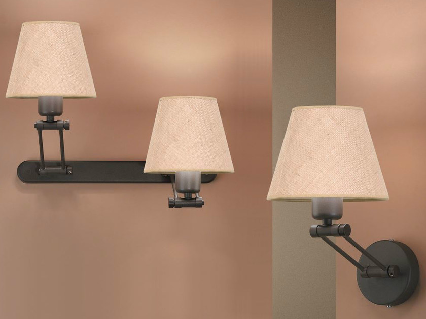Fabric wall lamp with swing arm AGRIPINA A 2 by luxcambra