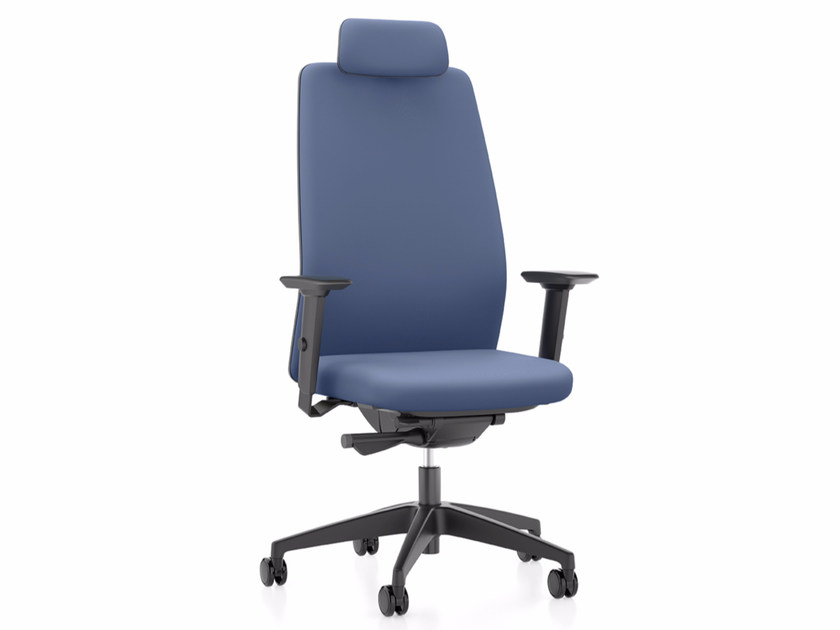 Fabric executive chair with 5-spoke base with armrests with headrest AIM IS1 1S31 by Interstuhl