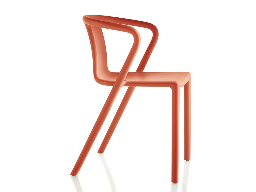 Stackable polypropylene chair with armrests AIR-ARMCHAIR by Magis