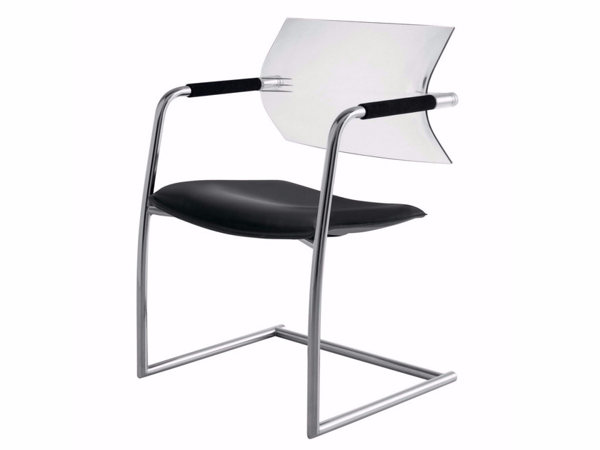 Cantilever upholstered polypropylene and fabric chair AIRE JR | Cantilever chair - Luxy