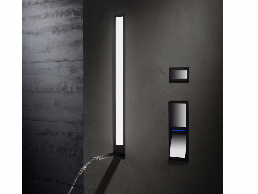 Wall-mounted LED waterfall bathroom tap AL 5 - NEWFORM