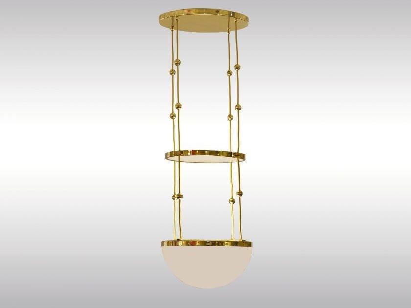 Classic style brass pendant lamp AL3/50 by Woka Lamps Vienna