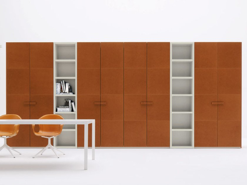 Sectional tanned leather wardrobe ALA CUOIO - Silenia