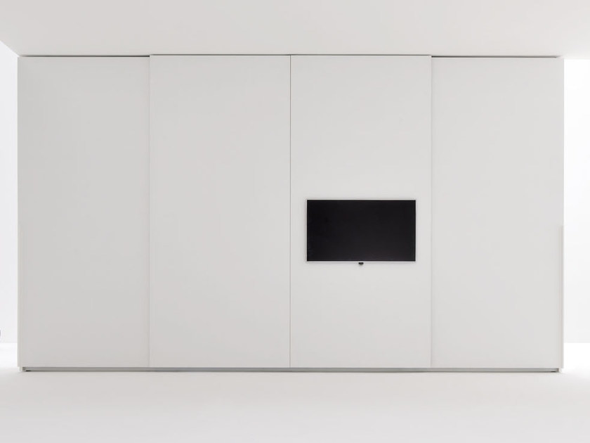 Sectional wardrobe with built-in TV ALA TV | Wardrobe with built-in TV - Silenia