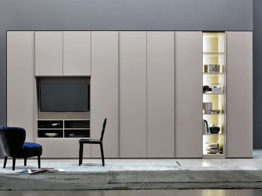 Sectional wardrobe with built-in TV ALA WING by Silenia