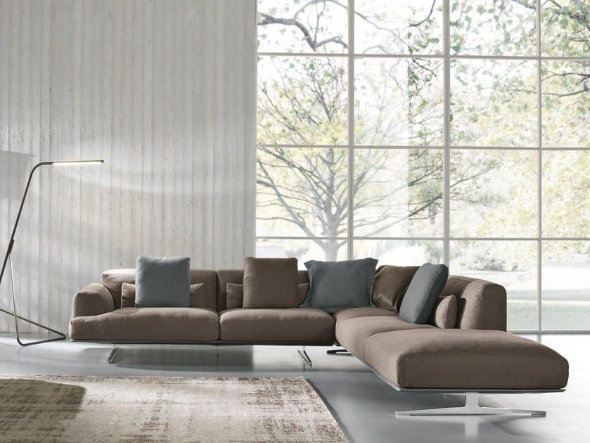 Corner fabric sofa ALBACHIARA | Fabric sofa - Max Divani
