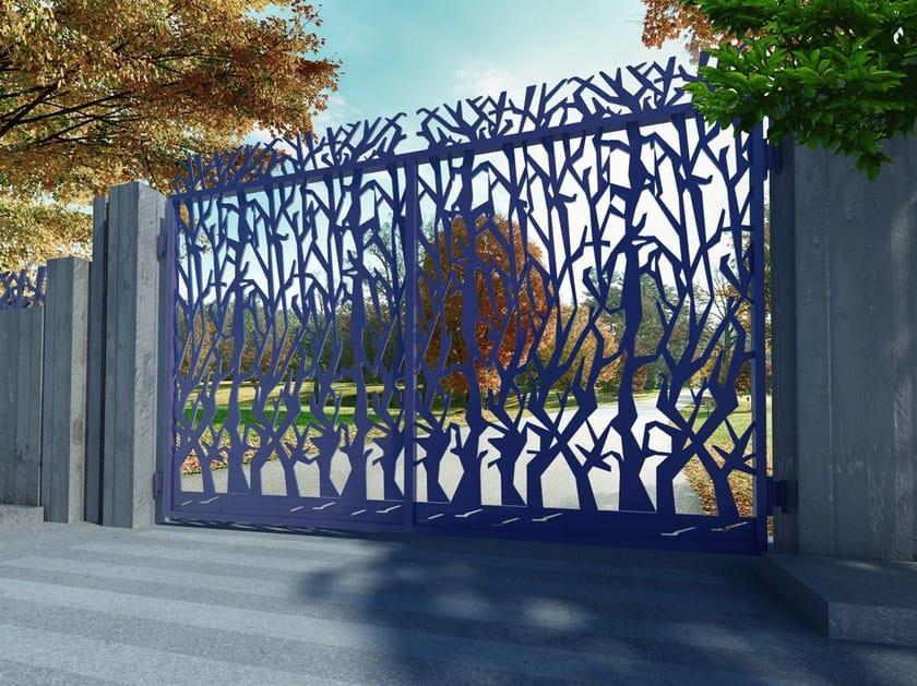 Swing Motorized iron gate ALBERI 2655 by Fabbridea