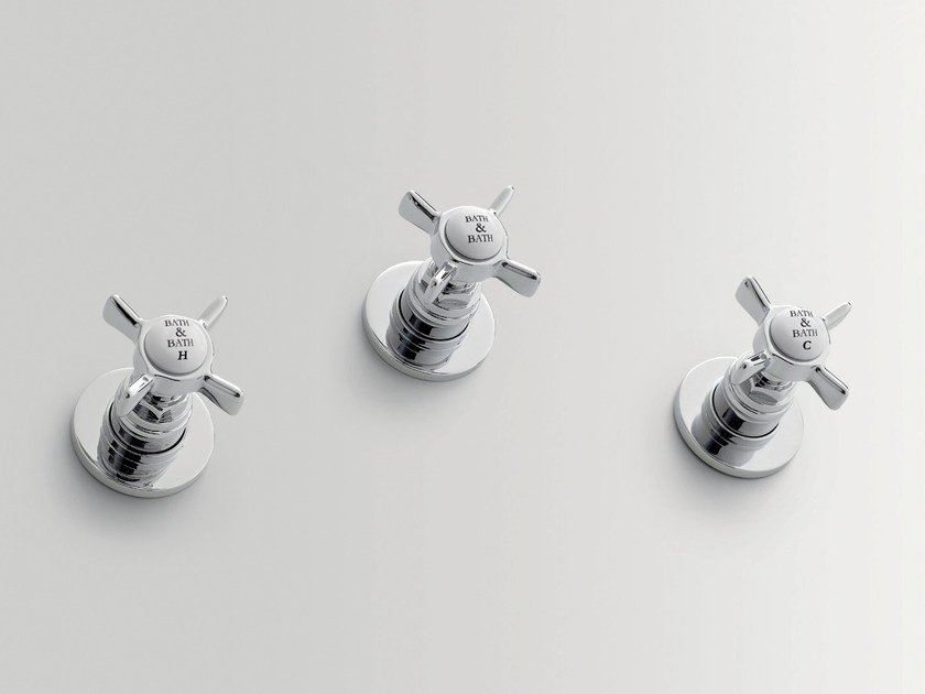 3 hole shower tap with diverter ALDEN | 3 hole shower tap - BATH&BATH