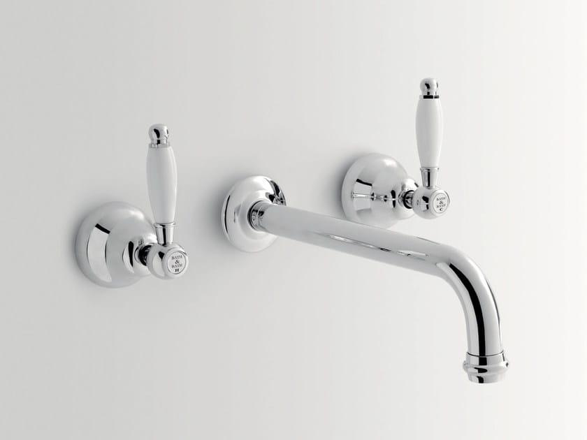 Rubinetto per lavabo a 3 fori a muro ALDEN | Rubinetto per lavabo a muro - BATH&BATH