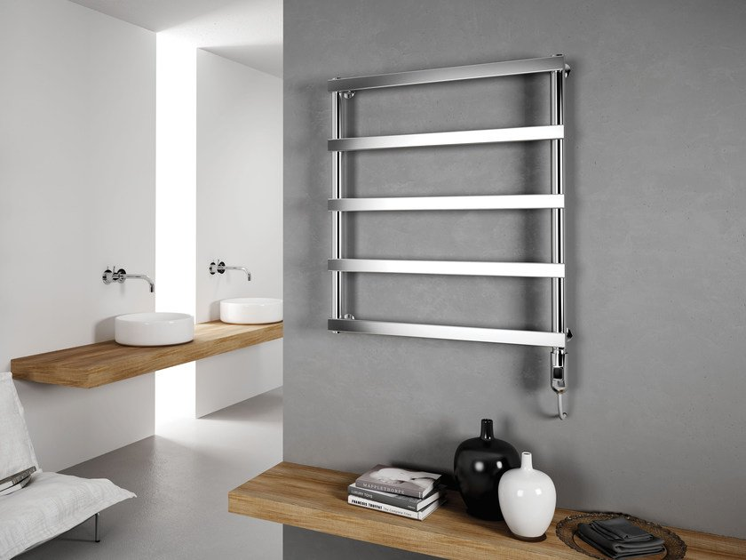 Electric wall-mounted stainless steel towel warmer ALESSANDRA | Electric towel warmer - CORDIVARI