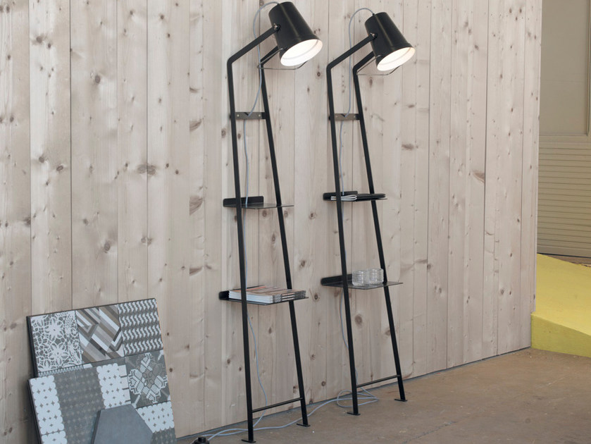 Direct light painted metal floor lamp ALFRED by Karman