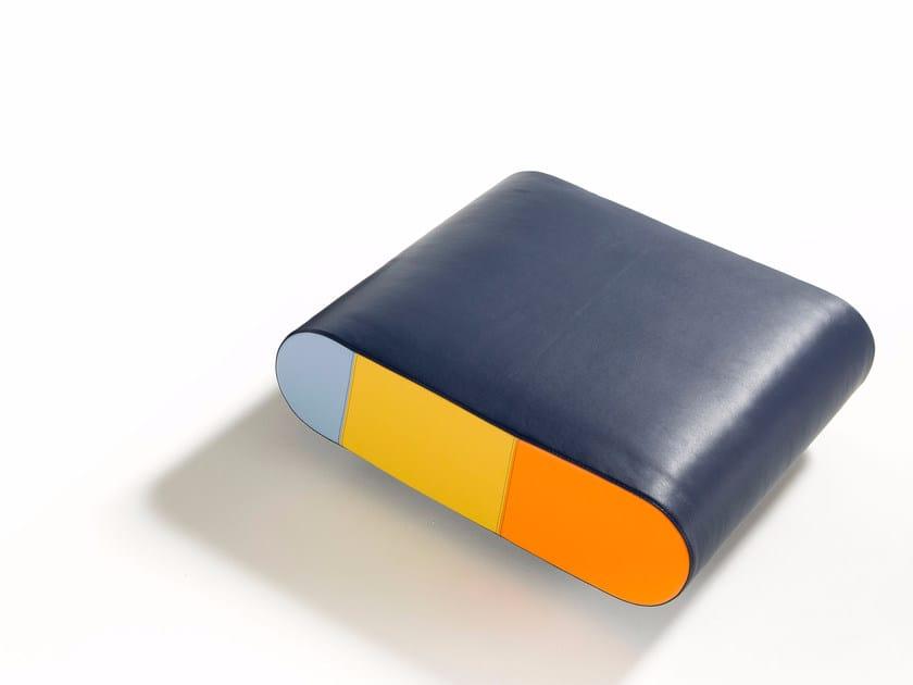 Leather pouf ALICE | Pouf - Egoitaliano