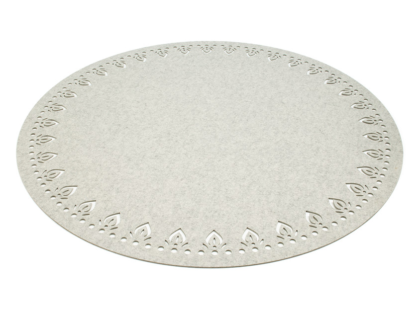 Solid-color round felt rug ALIMA | Round rug - HEY-SIGN