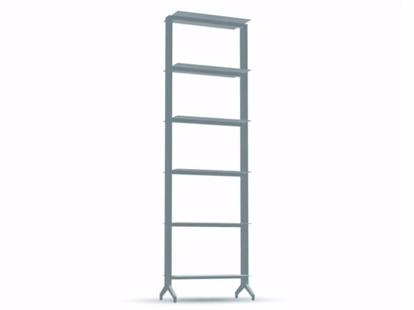 Open modular aluminium bookcase ALINE - T01 - Alias