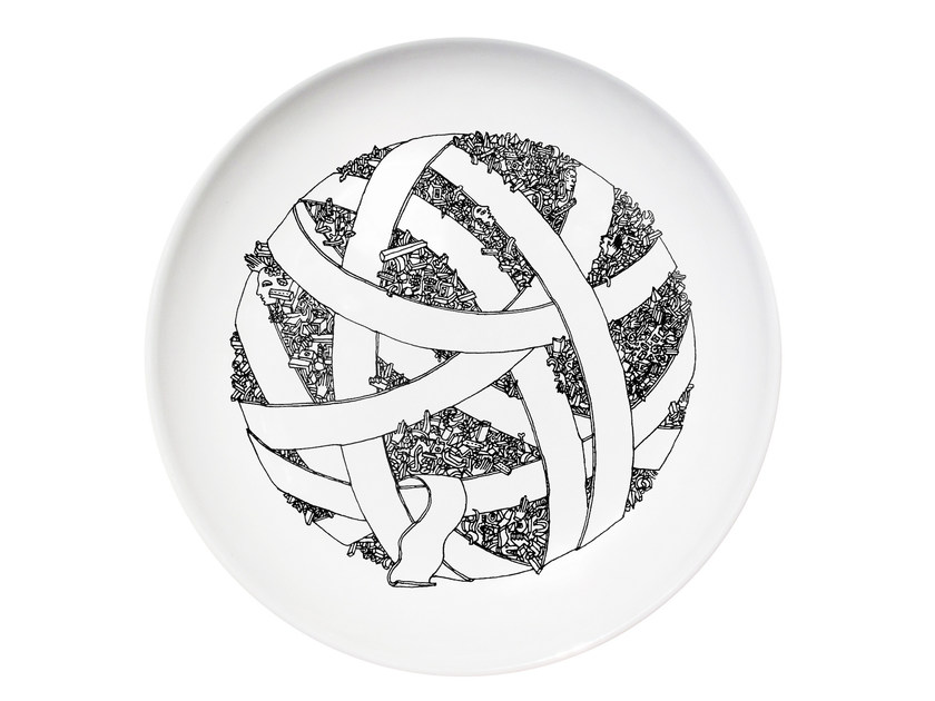 Ceramic dinner plate ALL - Kiasmo