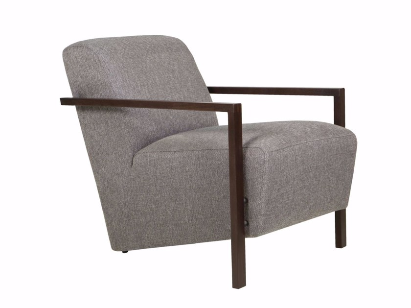 Upholstered fabric armchair with armrests ALLAN | Armchair with armrests - SITS